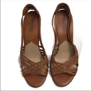 MICHAEL KORS | Slingback Brown Sandals Size 7.5
